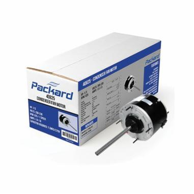 Packard 43732 Condenser Fan Motor, Enclosed Enclosure, 1/4 hp, 208 to 230 VAC, 60 Hz, 1 ph, 48 Frame, 1075 rpm Speed, Tapped Hole Mount