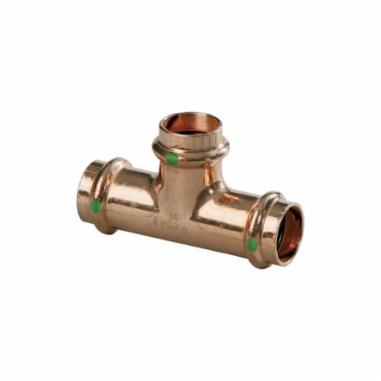 Viega ProPress® 77387 Pipe Tee, 3/4 in Nominal, Press End Style, Copper,  200 PSI CWP