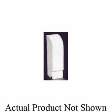 "Slant/Fin Base/Line® Baseboard End Cap, 2"", Nu-White, Solid Metal, Snap-On, Right, Non-Hinged"