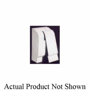 """Slant/Fin Base/Line® Baseboard End Cap, 4"""", Nu-White, Snap-On, Right, Hinged"""